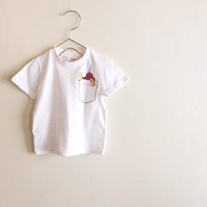 ミッキー&だまし絵ポケットTシャツ☆ラスト1点140サイズ