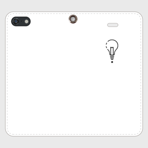 【SE】ロゴiPhoneケース手帳型白