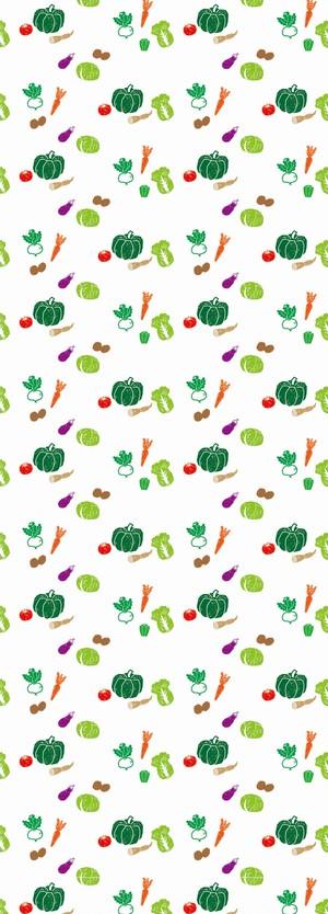野菜柄壁紙 オーガニックレストラン ファーマーズマーケットなどに最適