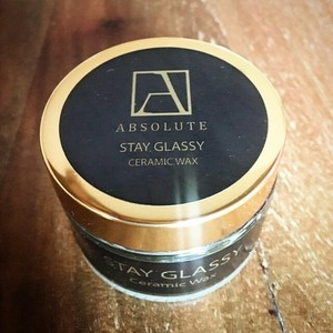 天然ワックス absolute wax Stay Glassy Ceramic Wax (ステイグラッシーセラミックワックス) 200ml 日本初上陸の高性能カーケア製品
