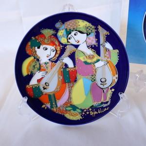 【CR1912-G10】ローゼンタール アラジン ヴョルンヴィンブラッドの絵皿 金の装飾