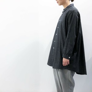 FIRMUM 【フィルマム】 GRANDRELLE TWISTED COTTON 5OZ CHAMBRAY Regular collar shit