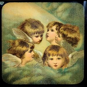 幻燈スライド「4人の熾天使」