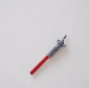 ぞうの鉛筆キャップ(かぎ針編み)