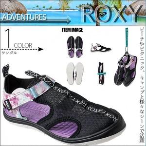 RSD202502 ロキシー サンダル レディース アウトドア キャンプ 海 ビーチ リゾート プール 通販 人気 ブランド 可愛い 黒×紫系×白ロゴ 23cm 23.5cm 24cm 24.5cm 25cm ADVENTURES ROXY