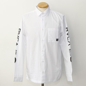 【RVCA】STAFF LS SHIRTS (WHITE)