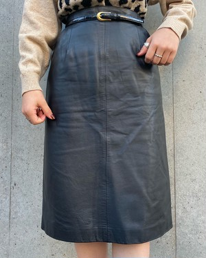(PAL) leather tight skirt