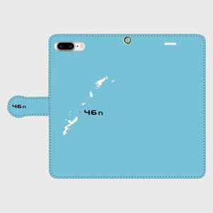 46n  iPhone 7 Plus ケース手帳型 ライトブルー