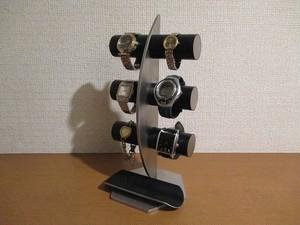 新作 6本掛け腕時計スタンド ブラック No.180928