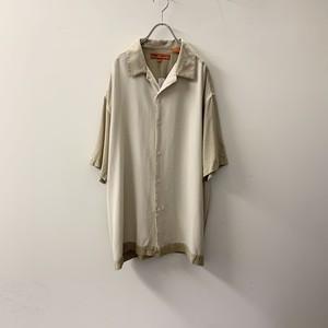 sette ponti オープンカラーシャツ シルク ベージュ size L メンズ 古着