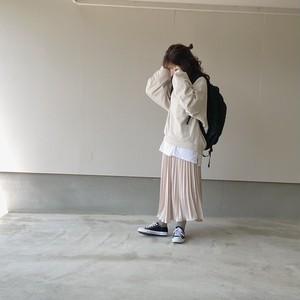 pleats long skirt[20F-27]