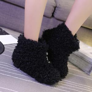 【シューズ】ファッション暖かいフラットヒール丸トゥスエードショート丈ブーツ35365283