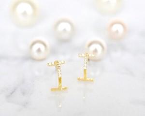 T line catch pearl pierce