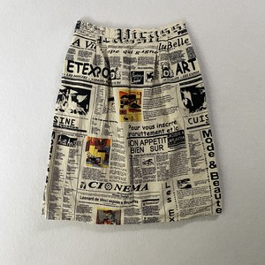 news paper textile gather skirt