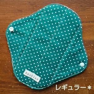 布ナプキン (レギュラー) ☆ 深緑ドット柄