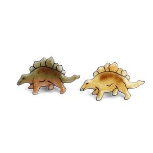 七宝焼きピンバッジ ステゴサウルス ★リブレット限定販売★