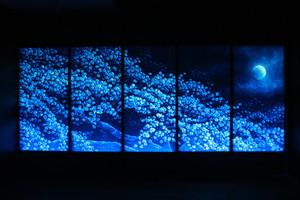 たまゆらの 春のしじまの 夜散歩 (幅450cm × 高さ180cm)