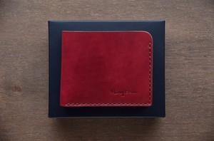 SCW/コンパクト二つ折り財布 ワインレッド,プレーン