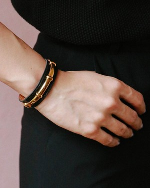 HERMES leather bangle