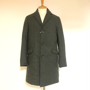 Down Chester Coat Khaki Tweed