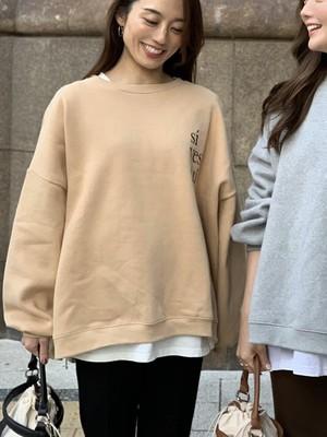 """【予約】 """"yes"""" big sweat pullover / beige  (ご注文より約3週間での発送)"""