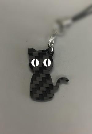 黒い猫 カーボンキーホルダー