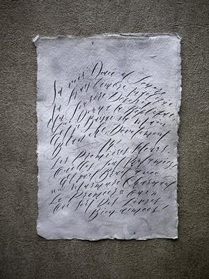 Hand lettering display paper / フランスの詩