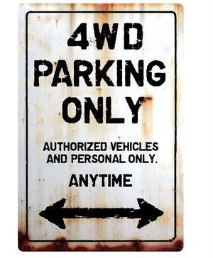 【送料無料】4WD ParkingOnlyサインボードパーキング ヴィンテージ風 サインプレート アメリカ看板 サインボード ガレージサイン アメリカ雑貨 アメリカン雑貨 壁飾り ウォールデコレーション 壁面装飾 おしゃれ インテリア 雑貨