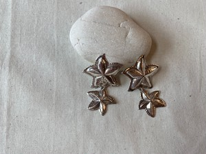 <vintage silver925>double starfish earrings