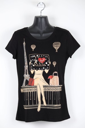 パリの街角Tシャツ【黒】