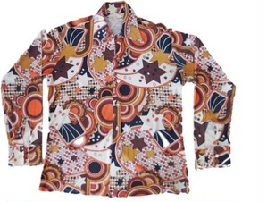 60's PERMANENT PRESS PETER MAX風 Hippie サイケ Shirts