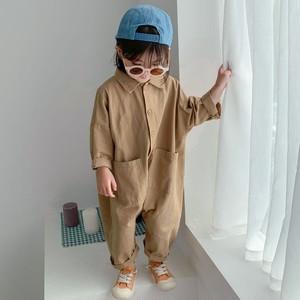 【ベビー服】無地折り襟シンプルベビー新生児ロンパース27678083
