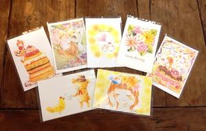 色鉛筆画ポストカード7枚セット