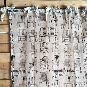 チッペンデールスタイル パーティションカーテン 110×180cm