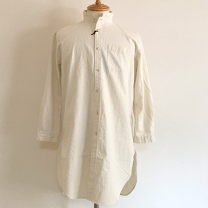Linen Blended Cotton Rome Shirt Coat Off Ivory