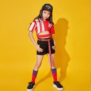 S5265子供上下セット2点 ダンスウェア キッズ 女の子 トップス タンクトップ+パンツ ダンス衣装 ジュニア 大人から子供まで 身長110-180cm