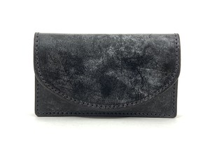 RE.ACT Bridle Leather Card Case Black