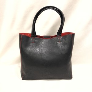 Fake Leather Mini Tote [Black]