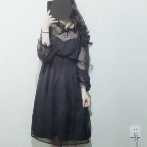 【ワンピース】2点セットファッションロリィタスウィート長袖カジュアルワンピース