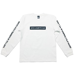 Box logo Long sleeve T-shirts [white / black]