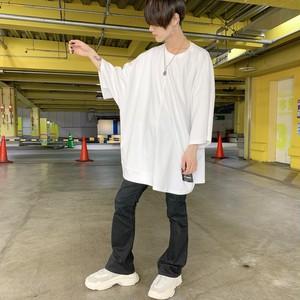 【即納】韓国ファッション タグプリントBIG Tee