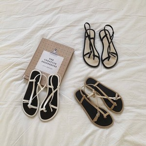 3color : Thumb ring Bicolor Belt Sandals  92025 サンダル  サムリング トング