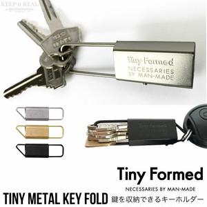 Tiny Formed タイニーフォームド 真鍮 の キーフォールド シルバー ブラス Tiny metal key fold Silver Brass TM-06S TM-06B 日本製