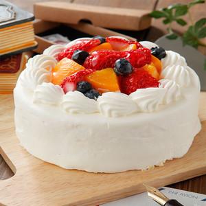 糖分を気にされている方へ 低カロリー甘味料マービー使用 フルーツたっぷり生クリームたっぷりデコレーション18㎝【6~8人分】