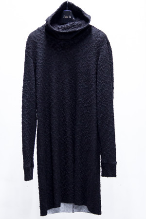 High Neck Long Knit