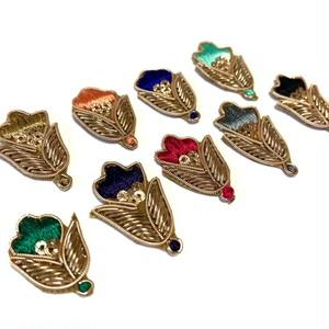 インドザリ刺繍カラーデコパーツセット(お花)