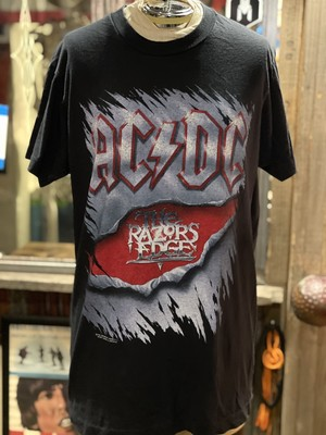 90s AC/DC ハードロック バンドT ツアーtシャツ レーザーズ・エッジ razors edge