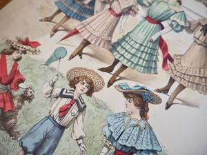 LE MONITEUR DE LA MODE / FASHION PLATE / FRANCE 1903