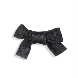 リボン パーツ 4cm ドットエッジ ブラック 5個入