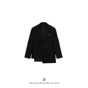 【1 JINN STUDIO】アシンメトリーレイヤードテーラードジャケット